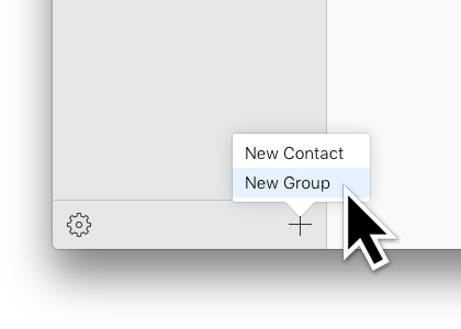 Add new group to Contacts