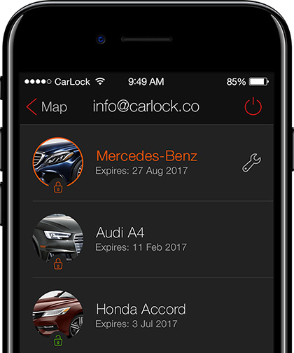 List of All Vehicles on the App