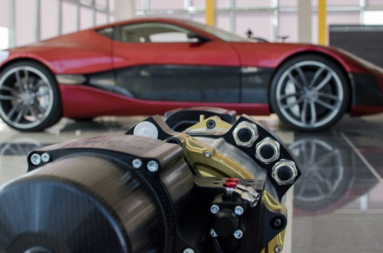 Rimac Concept One rear drive train