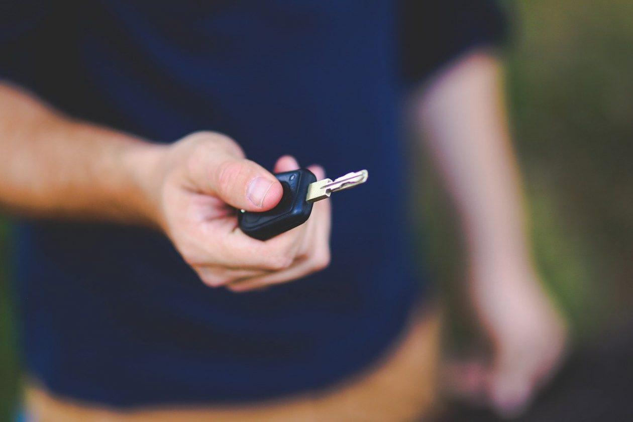 Pressing key car alarm